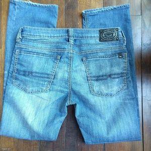 BUFFALO | Evan Medium Wash Button Fly Jeans
